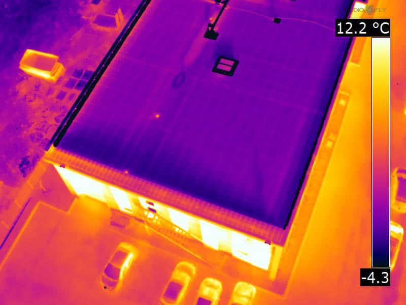 Thermographie des bâtiments par drone