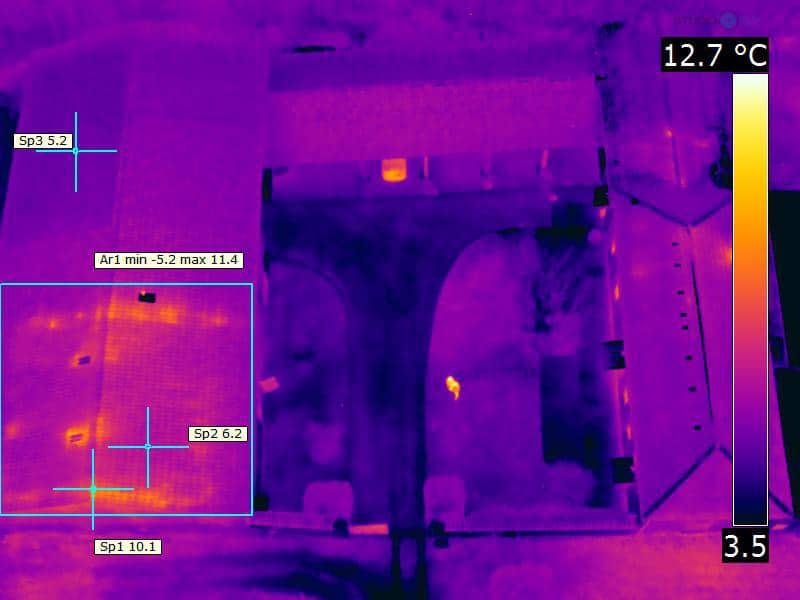 caméra thermique sur drone