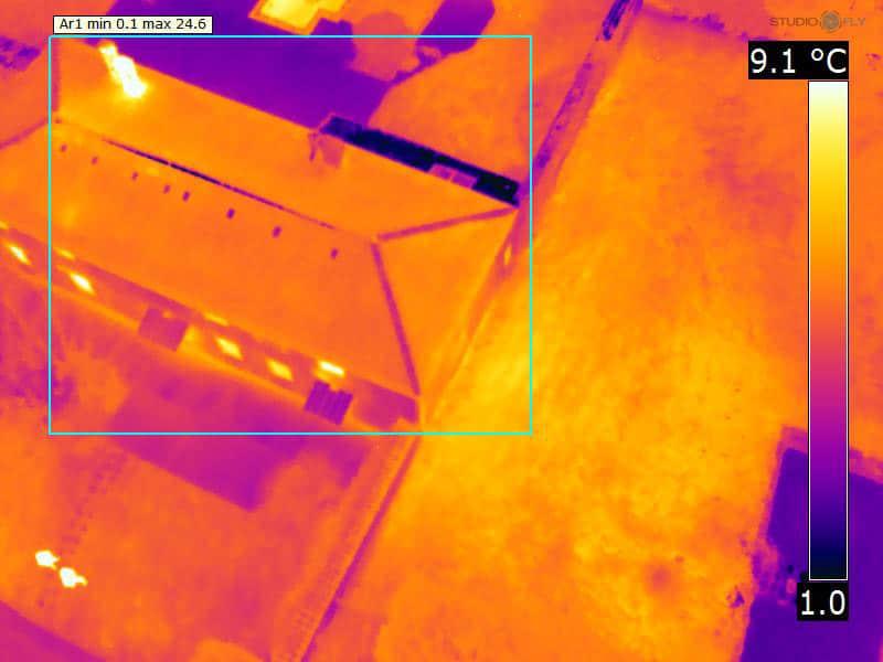 Imagerie thermique par drone