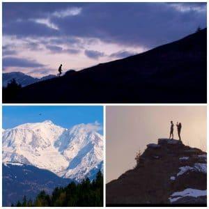Prise de vue par drone en montagne