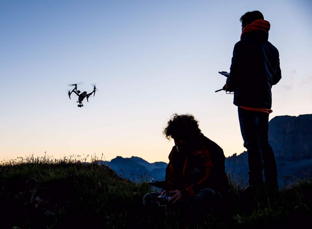 Pilote drone pour film publicitaire