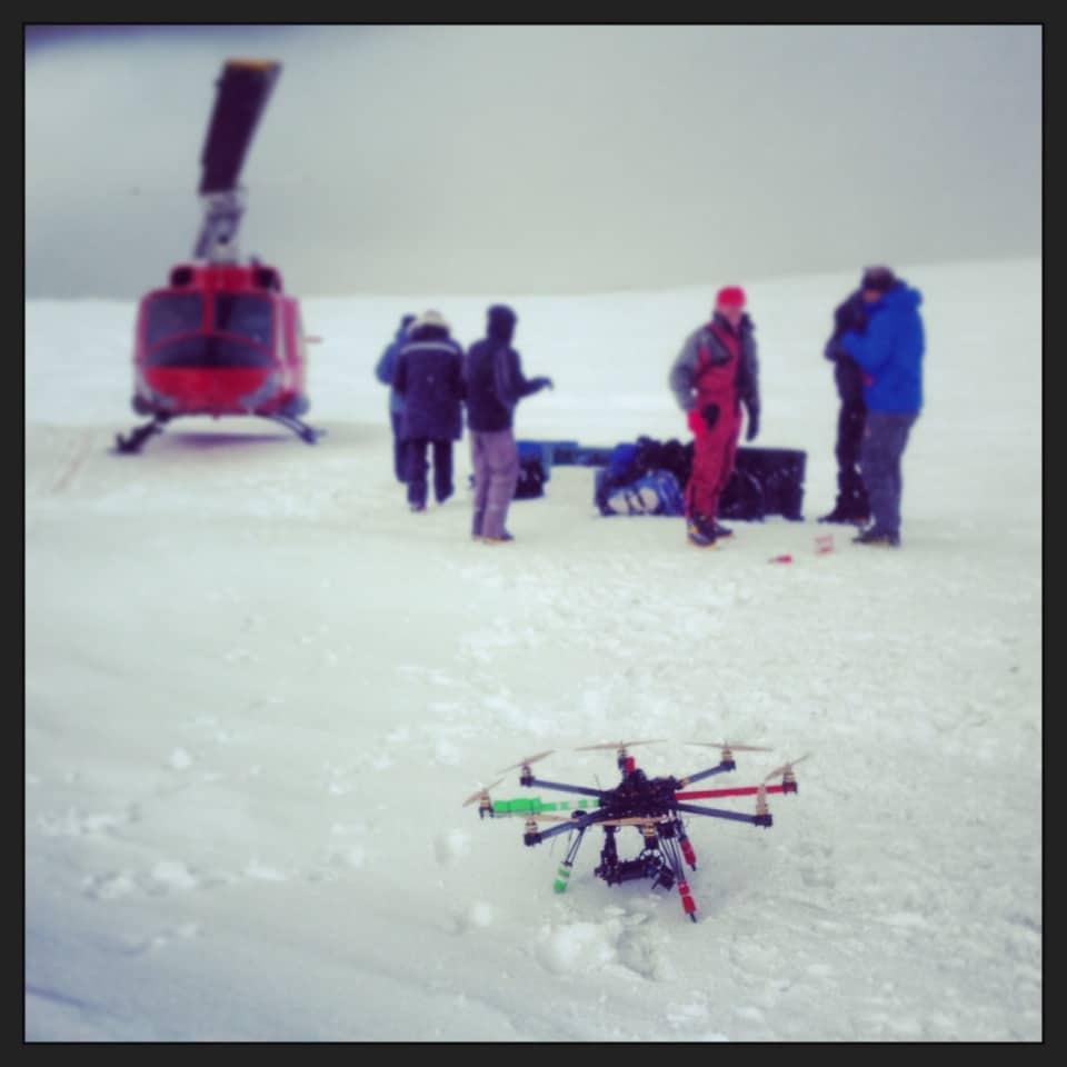 Documentaire pour la télévision réalisé par drone au Groenland