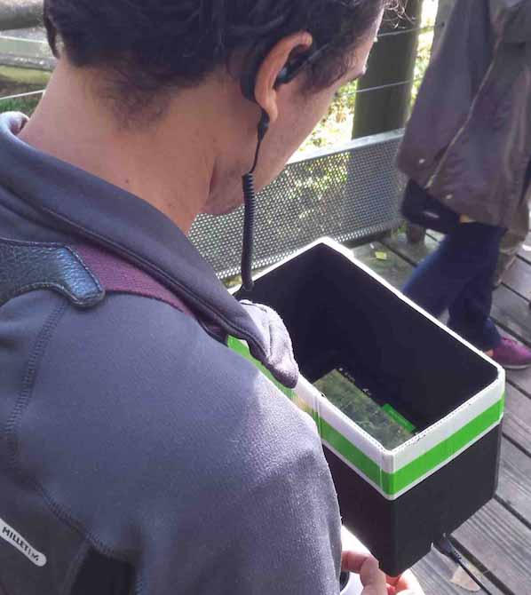Télépilotes drone avec retour vidéo en tournage