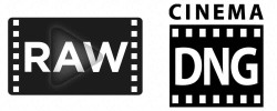 Logo format raw et cinema dng.