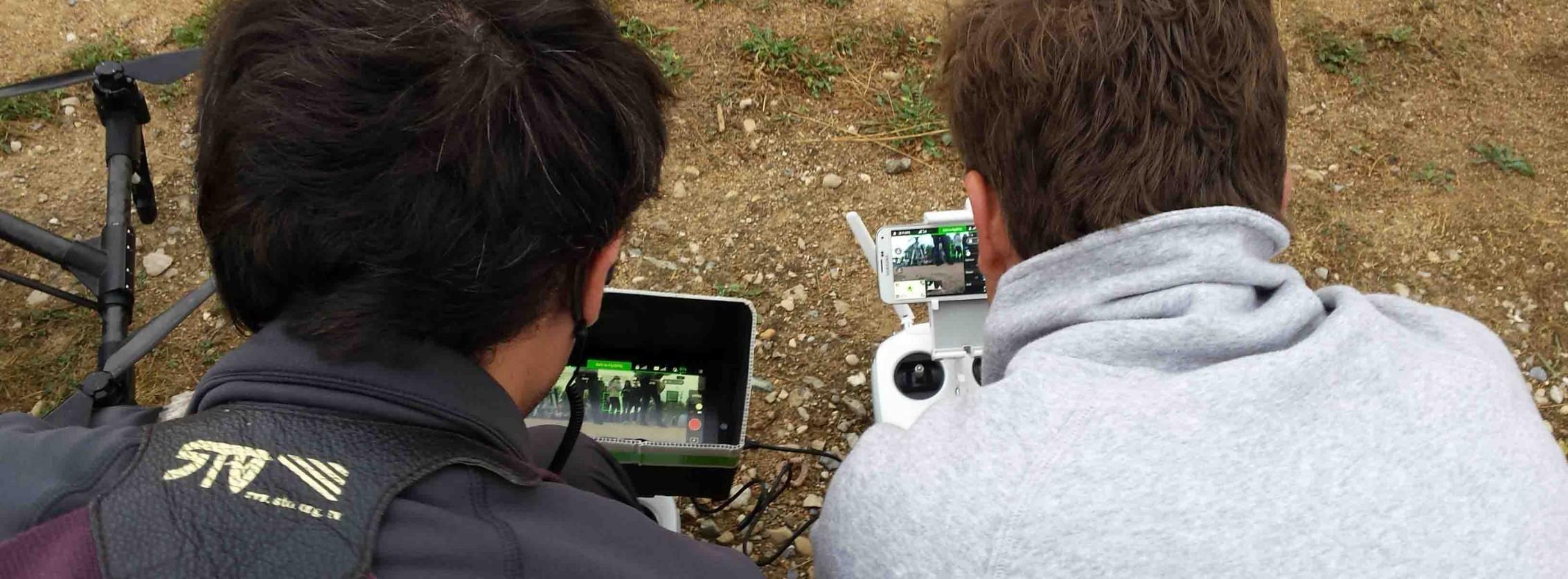 Télépilotes drone avec retour vidéo sur radiocommande
