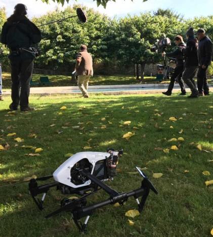 tournage serie France 3 mongeville avec drone et caméra