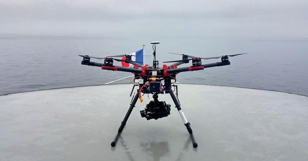 Drone en tournage pour série et fiction Rhône Alpes
