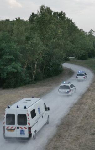 Poursuite voiture fiction en drone Rhône Alpes