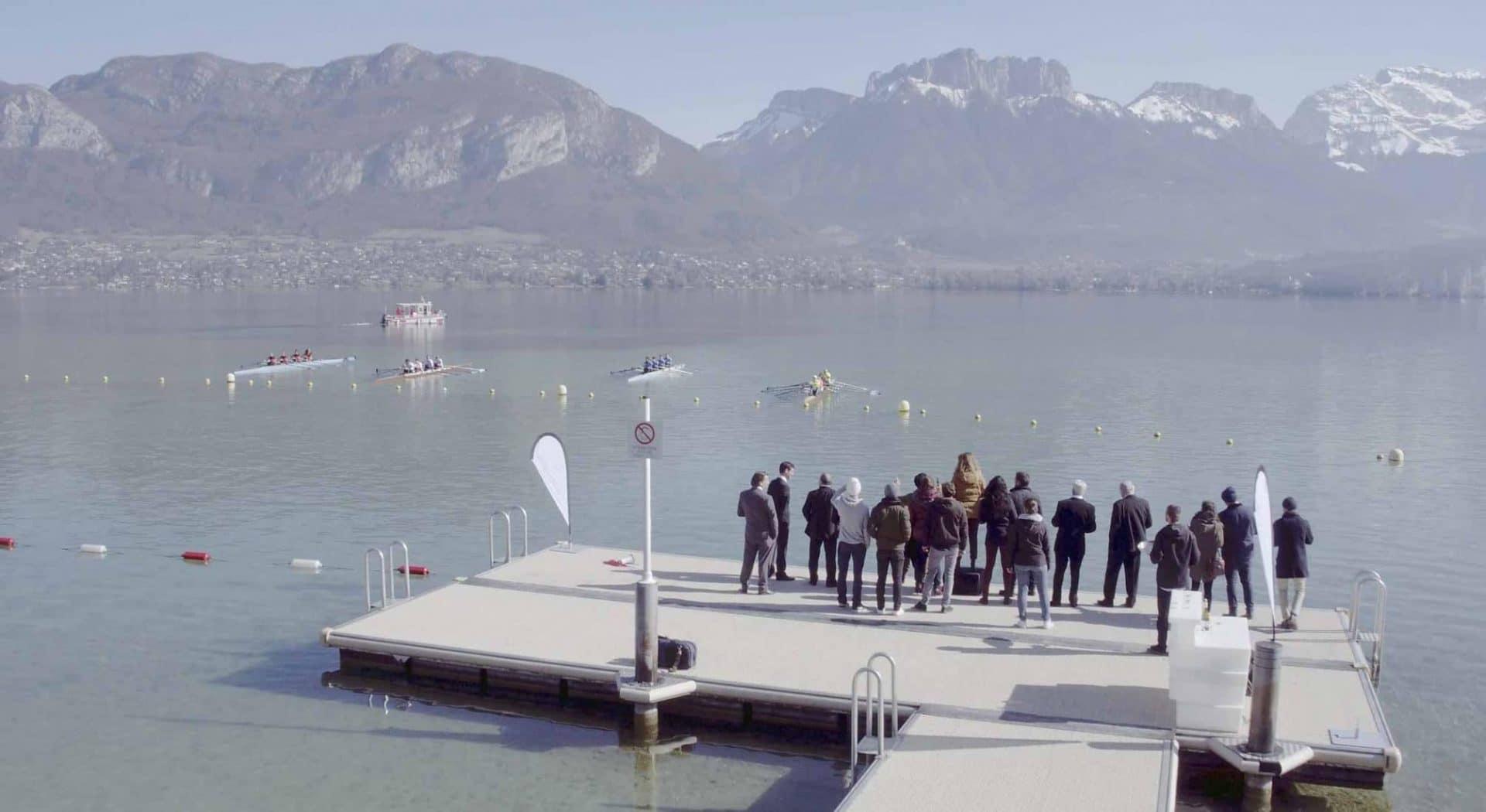 Vidéo aérienne de la série cassande au lac d'annecy