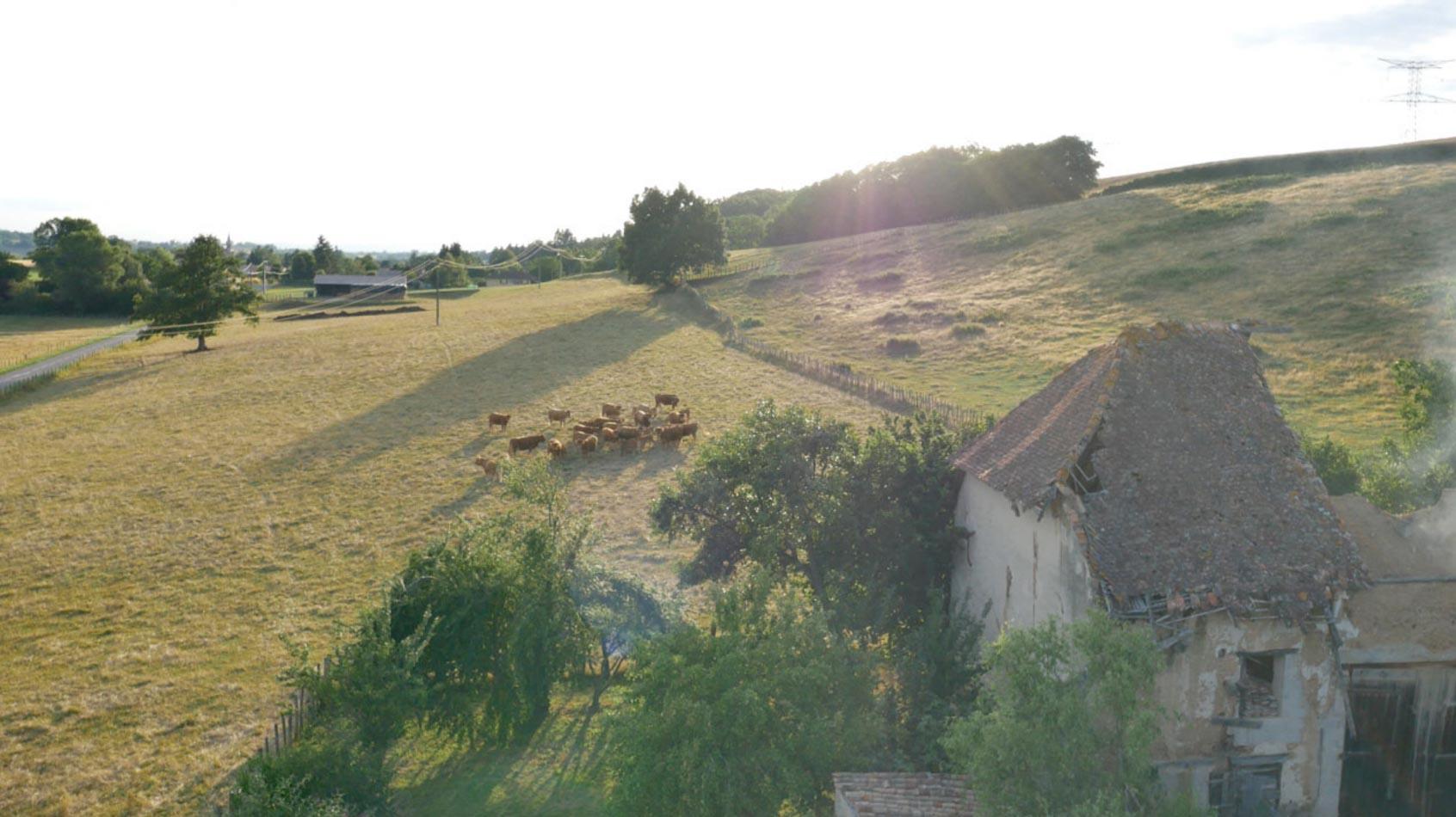 Image drone pour fiction en Rhône Alpes