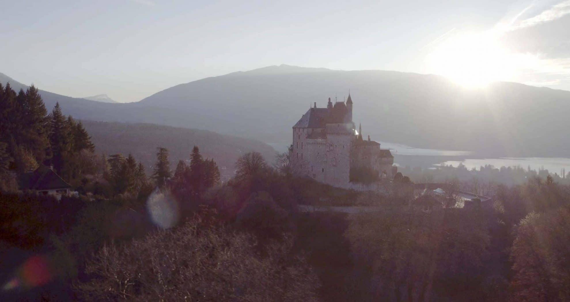 Video aérienne château en Rhône-Alpes
