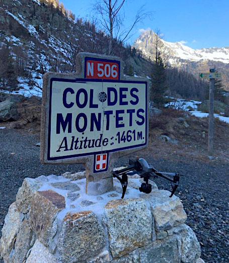 Drone en montagne pour tournage fiction
