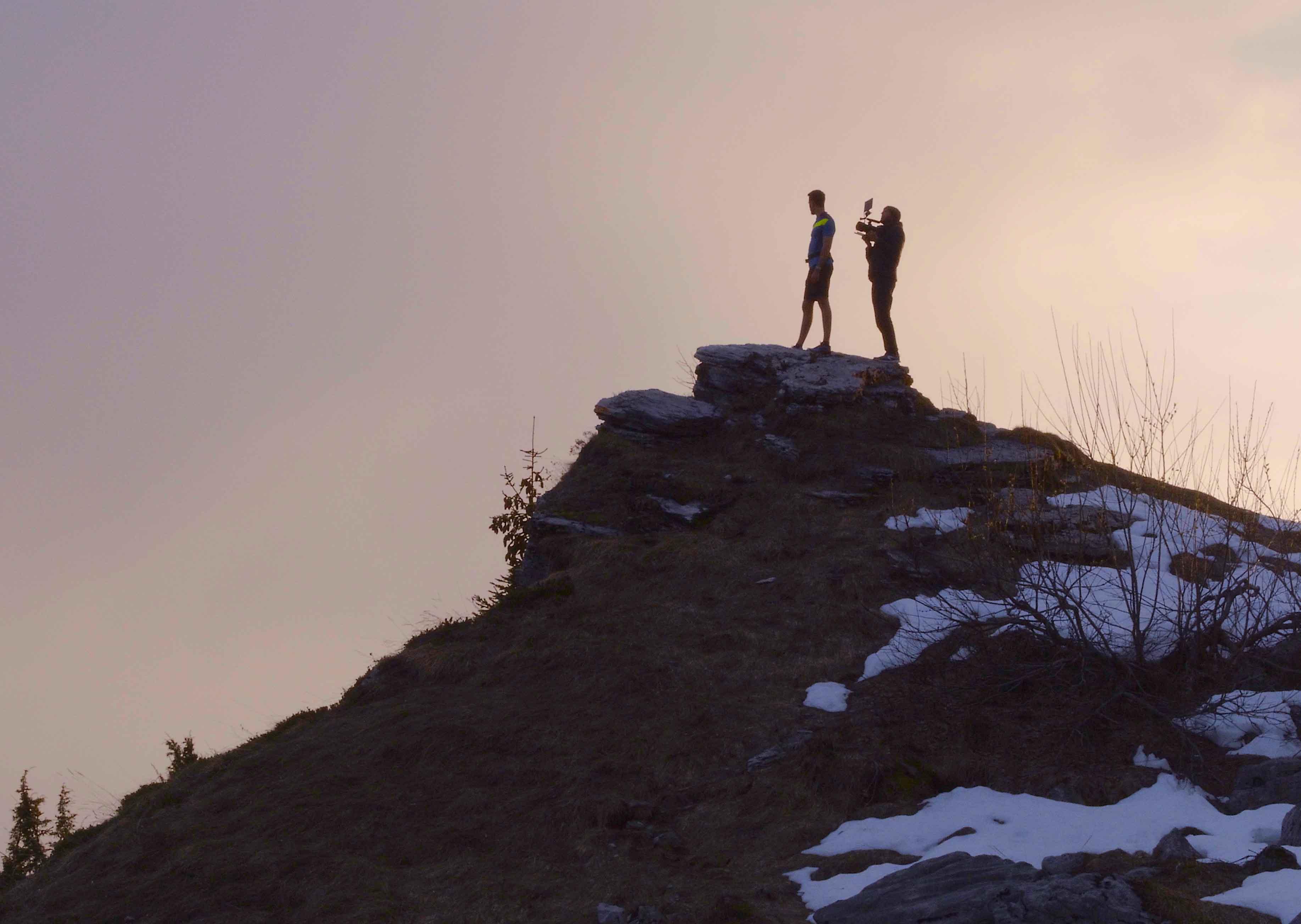 Fiction en montagne avec drone et caméra