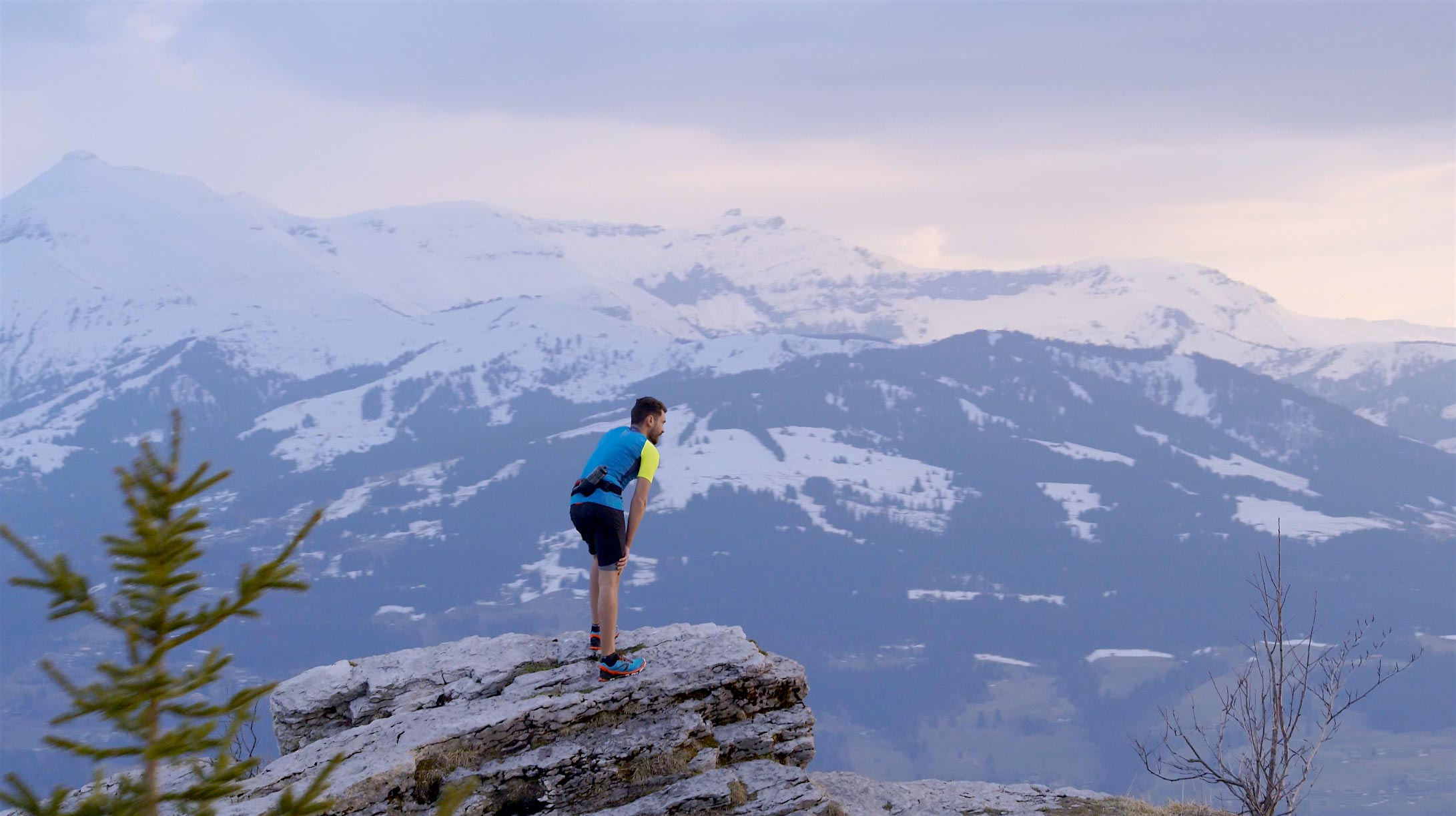 Prise de vue drone en montagne