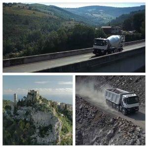 Film publicitaire aérien par drone pour Renault trucks