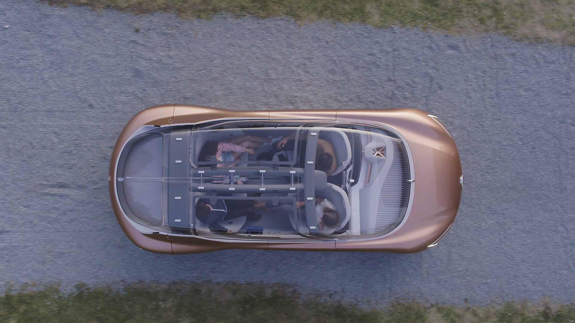 Drone photo concept car Renault