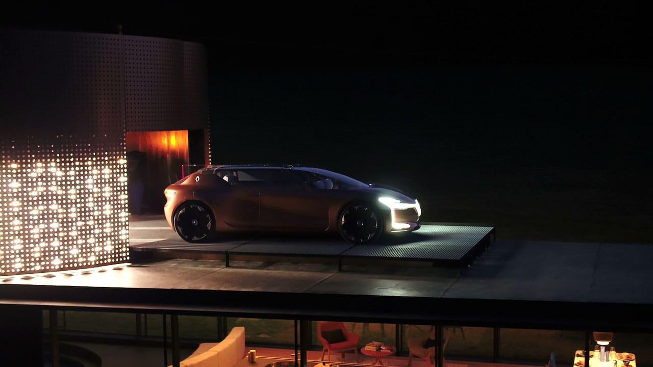 Images aériennes voiture concept car Renault