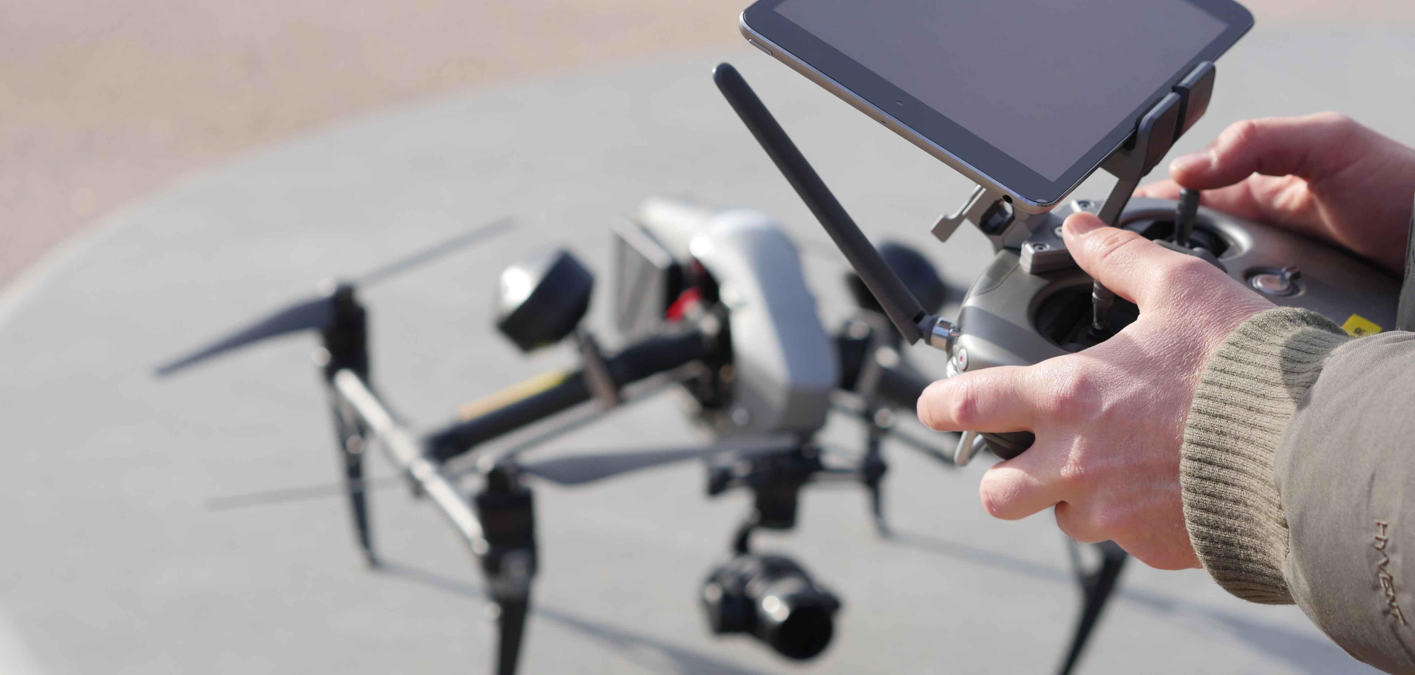 Drone a Lyon et pilote