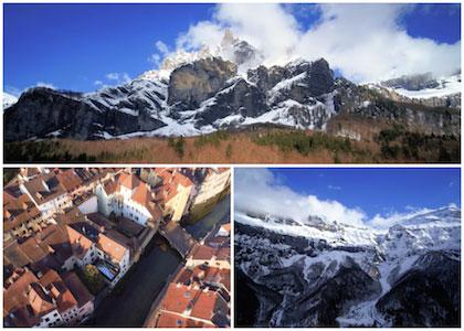 Haute savoie vue du ciel par drone - Film aérien