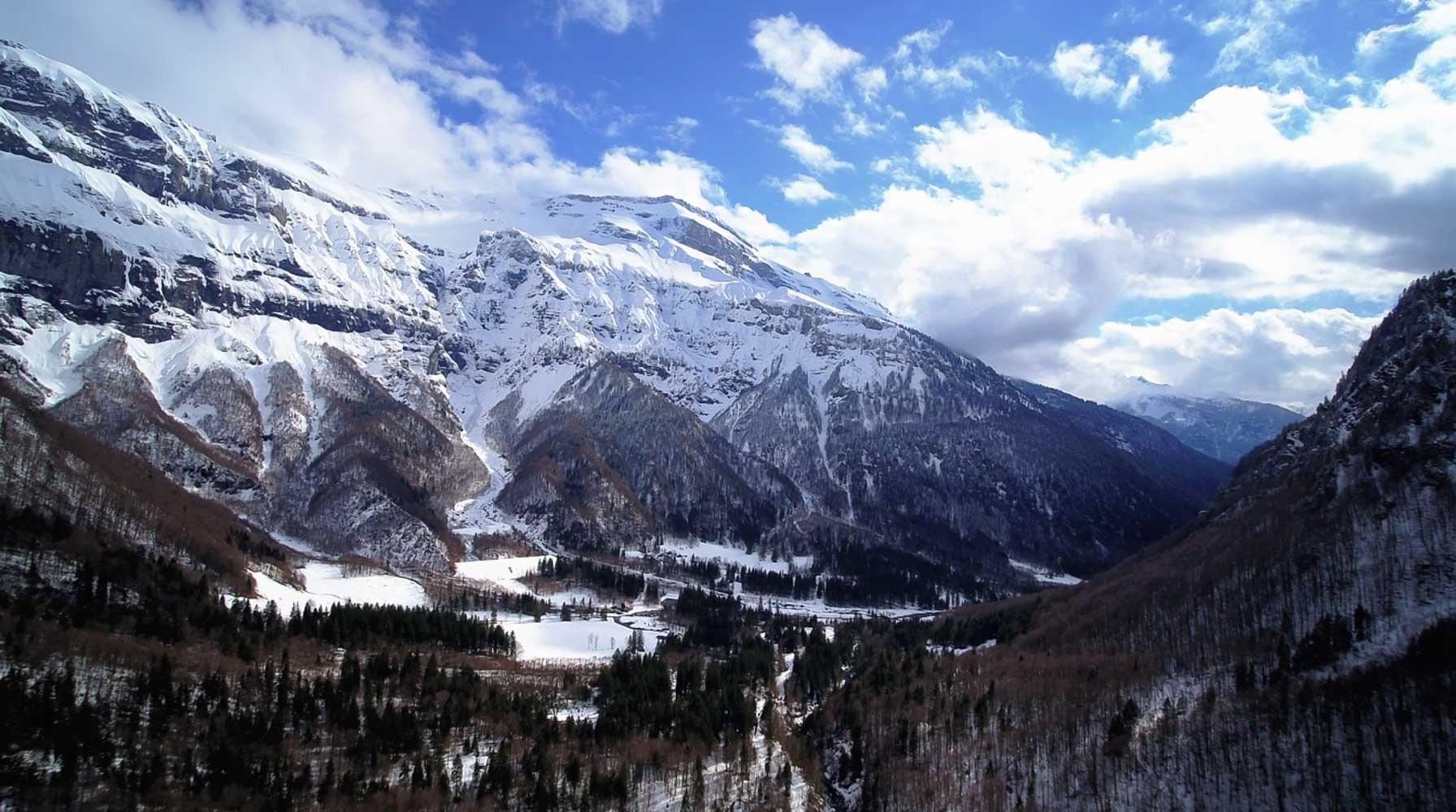 montagne drone Studiofly pour film département haute savoie