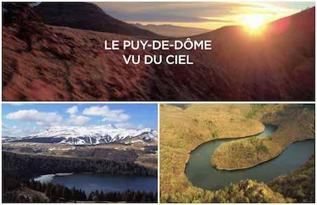 Film Puy de dôme vue du ciel par drone