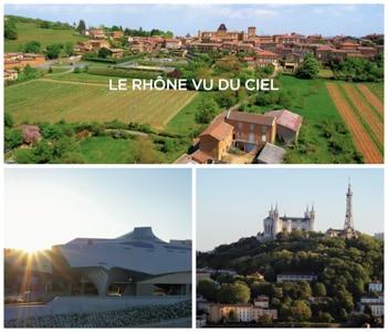 Rhône vu du ciel par drone