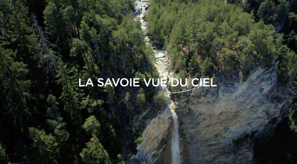Departement de la Savoie vu du ciel par drone