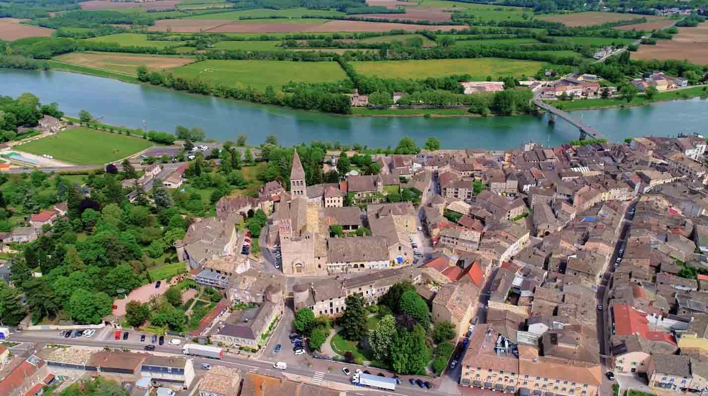 Abbaye Tournus Film Aérien Drone