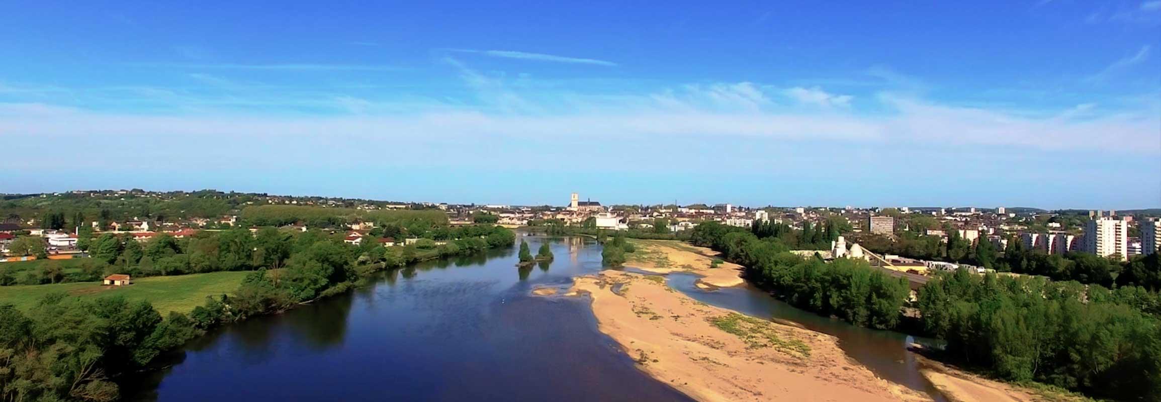 Bec de l'Allier Nièvre film aérien Drone