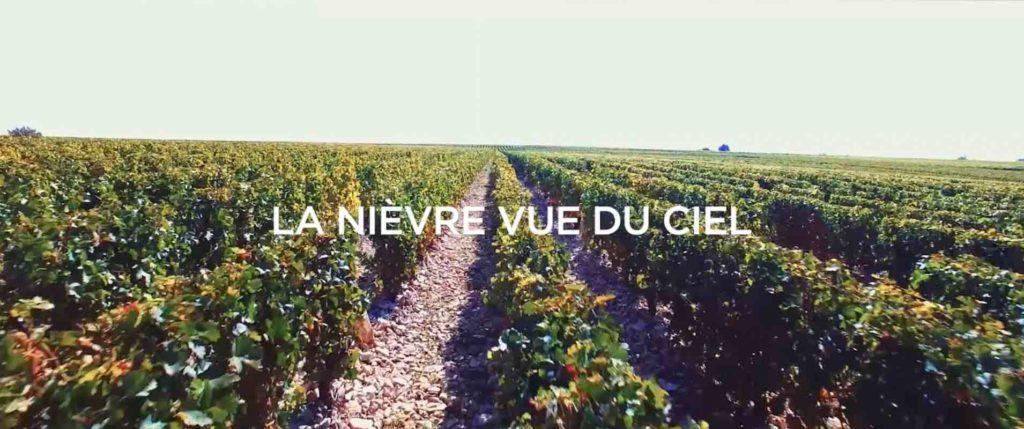 la Nièvre vue du ciel drone