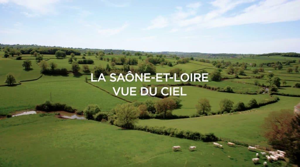 Saone et Loire film aérien drone titre