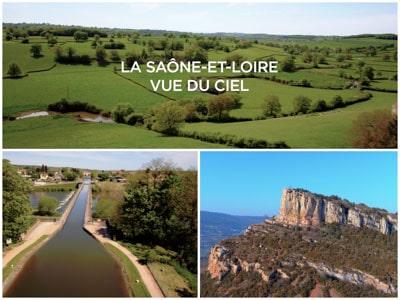 Saone et Loire film aérien drone