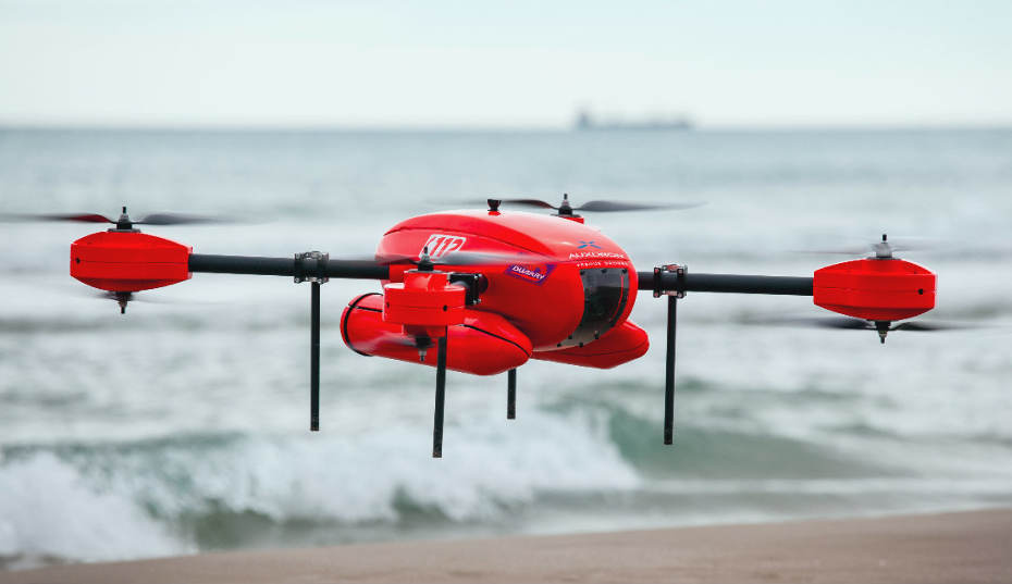 Sauvetage en mer par drone