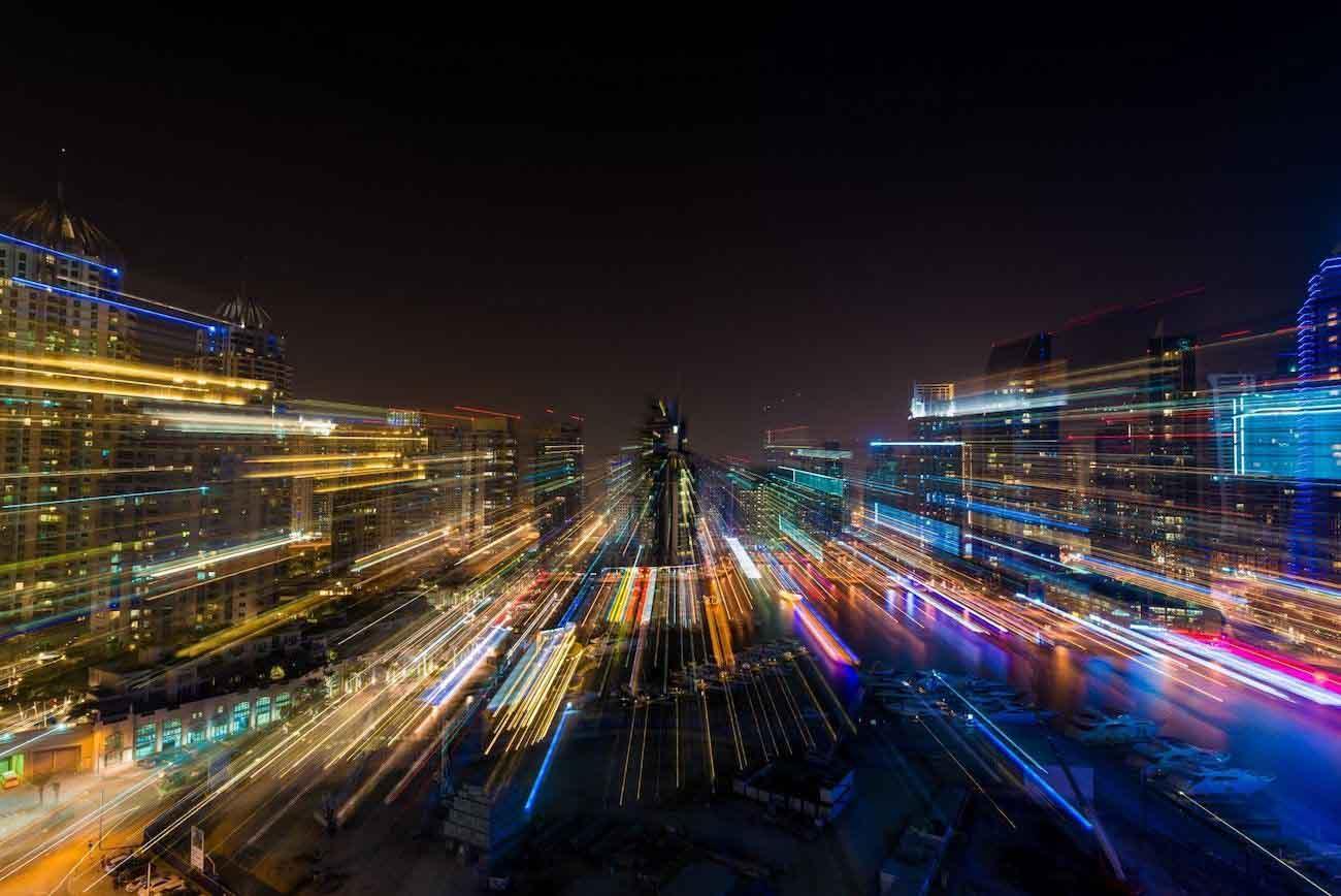 Timelapse Nuit Dubai Drone