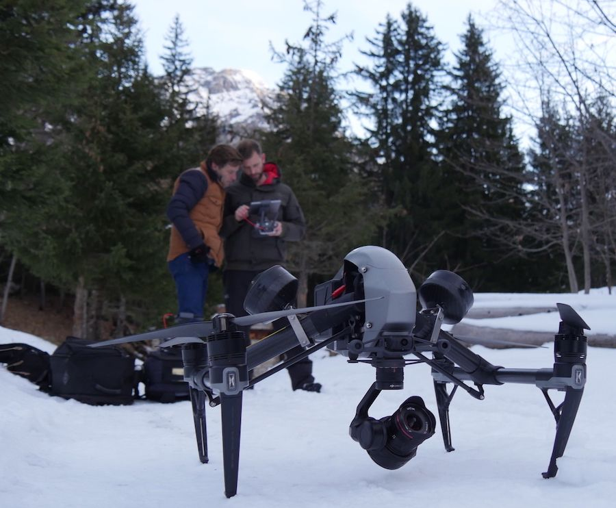 DJI INSPIRE 2 DRONE avec pilotes