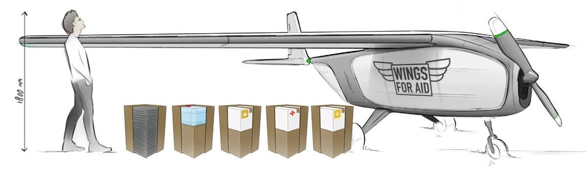 Drone pour aide humanitaire