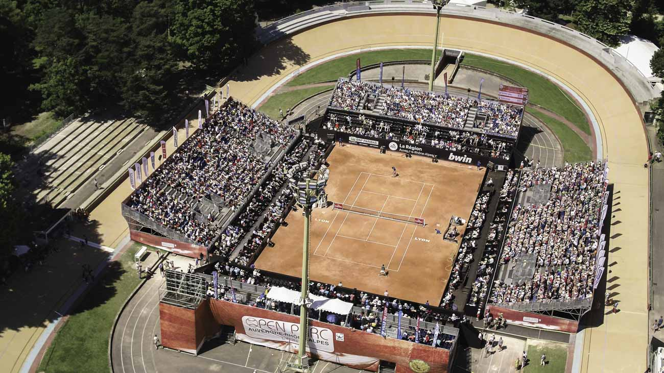 Tournoi de tennis vu par drone