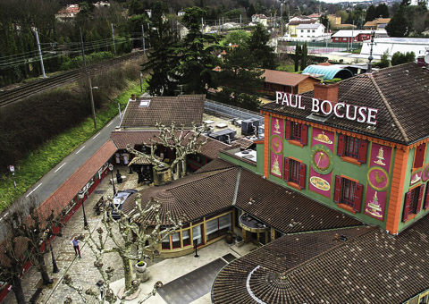Restaurant paul bocuse vu par drone