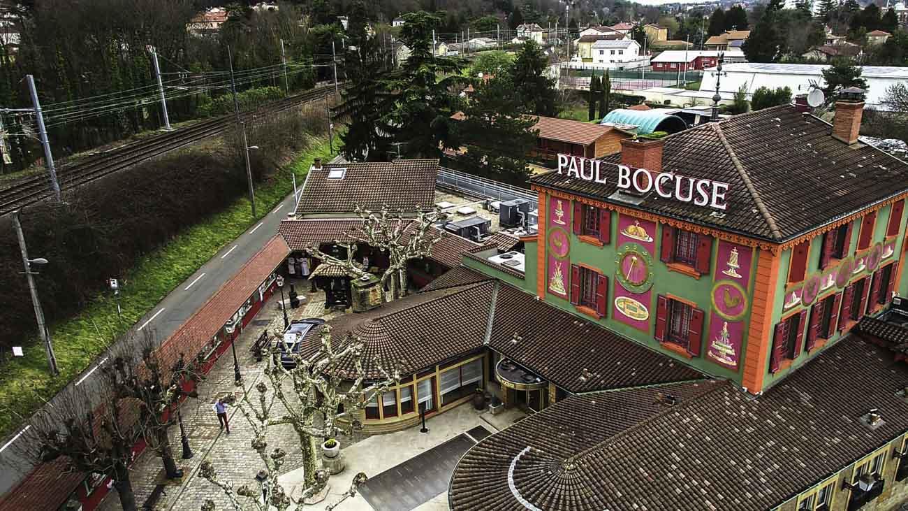 Restaurant paul bocuse vu par drone