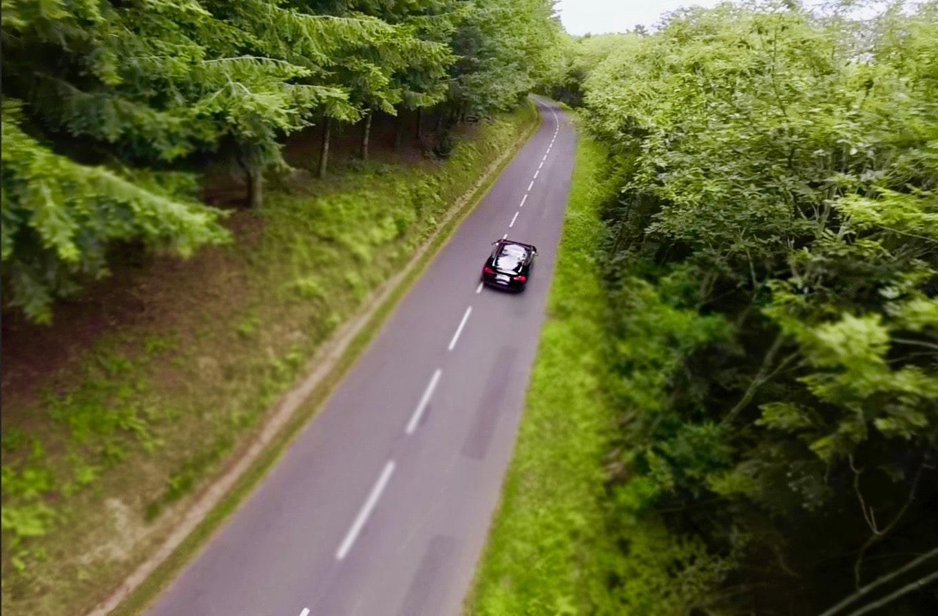 Vue drone racer course Tesla